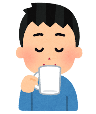 コーヒーを飲む人のイラスト(男性)