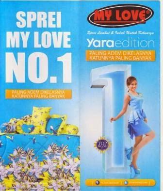 Katalog sprei my love terbaru 2015 Yara edition