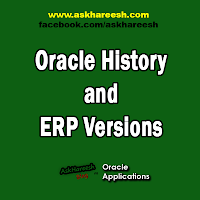 Oracle History and ERP Versions, www.askhareesh.com