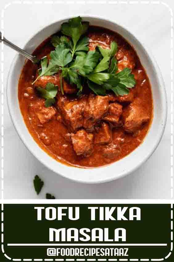 4.5 ★★★★★ | A cozy Indian curry made with marinated tofu in a creamy masala sauce! #CookingRecipes #Healthy #Vegans