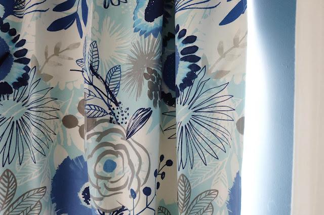 curtain fabric custom diy mid-century vibe dark