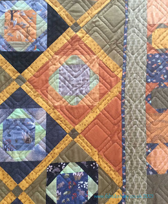 Diagonal Plaid Bias Quilt design