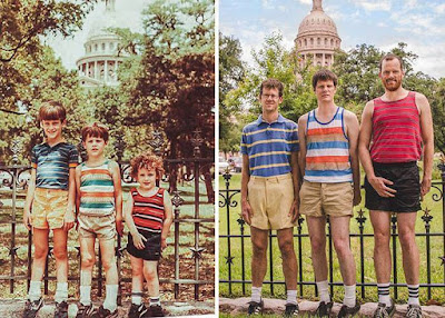 15 Peoples Recreated their Childhood Photos