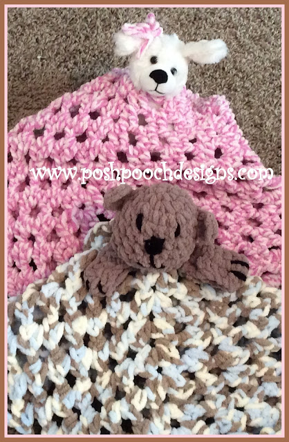 Free Crochet Patterns For Dog Blankets : Posh Pooch Designs Dog Clothes: The Fuzzy Blanket Lovey ...