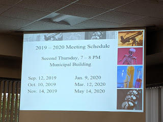 FEF meeting schedule for the coming school year 2019-2020