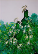 October inspiration is by Lyn Butchart called Green Peacock