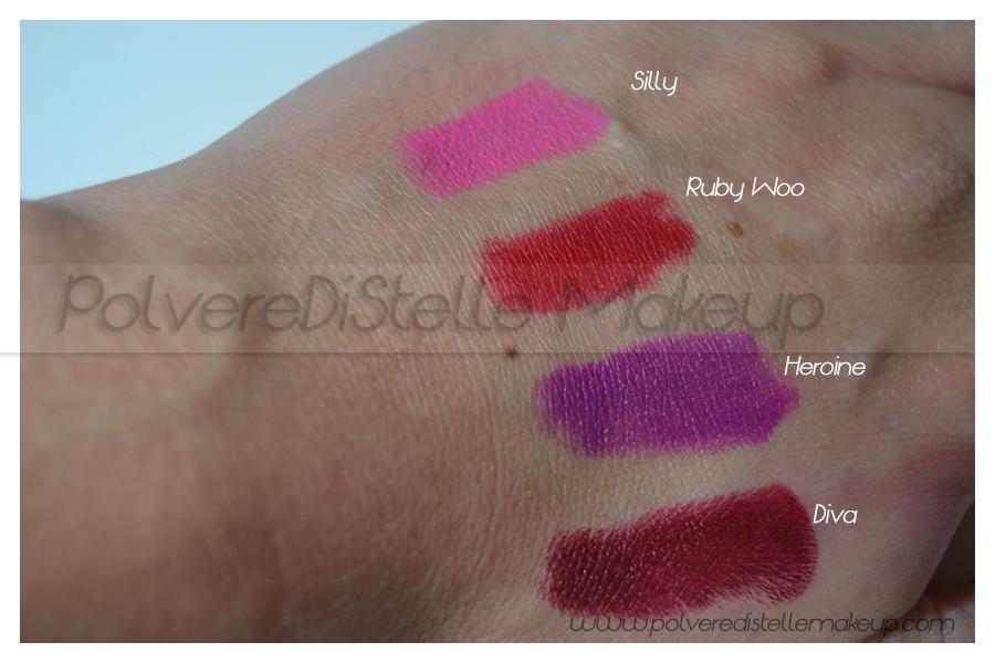 Guida m a c lipstick matte e retromatte polveredistelle makeup - Rossetto mac diva ...