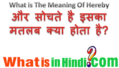 what is the meaning of Hereby in Hindi