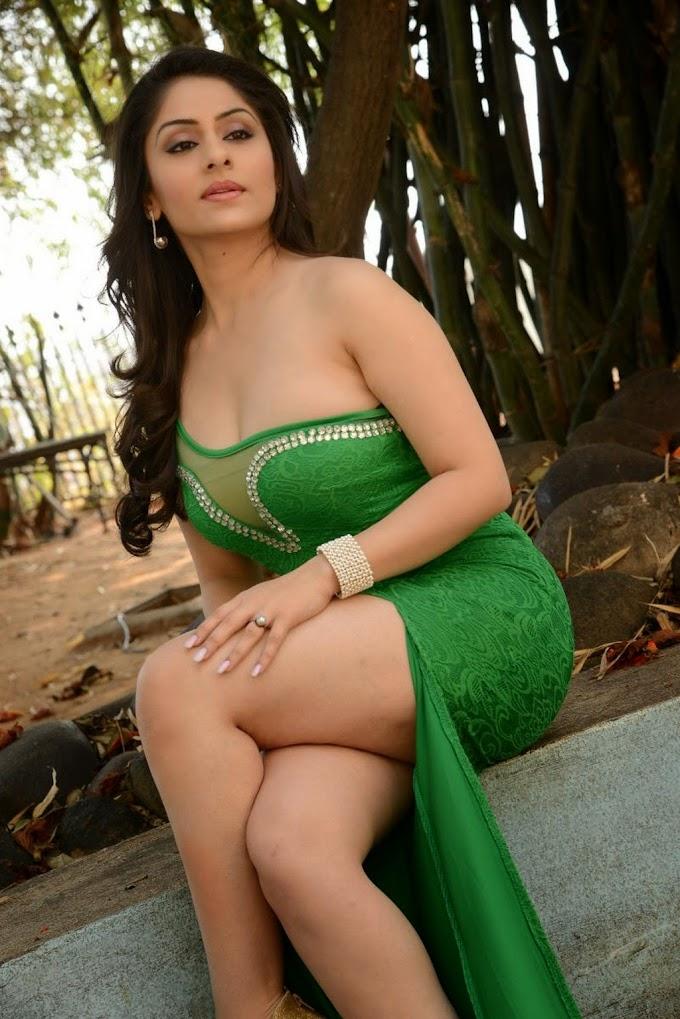 Ankita Sharma Hot Sexy Look In Green Dress Photos.
