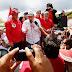 Lula entra em Pernambuco e é recebido por Humberto com festa em Xexéu