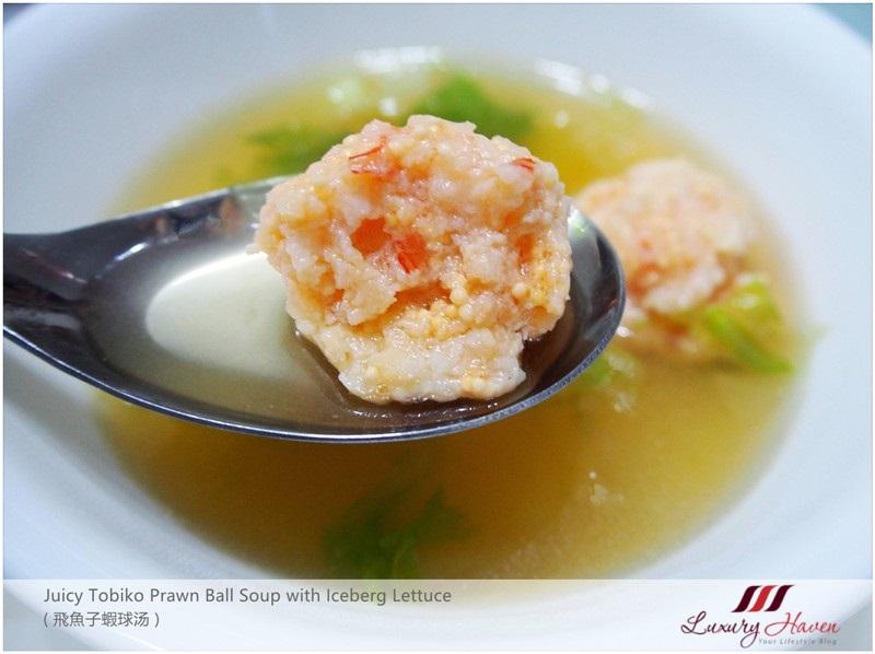 succulent tobiko prawn ball soup iceberg lettuce recipes