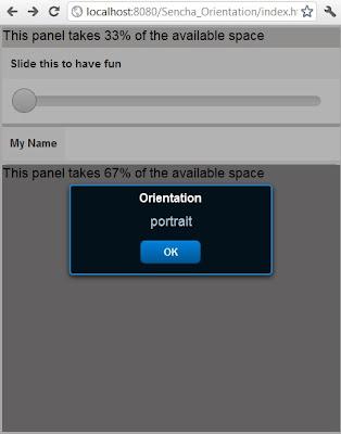 Sencha Touch 2 change display based on orientation - landscape or portrait