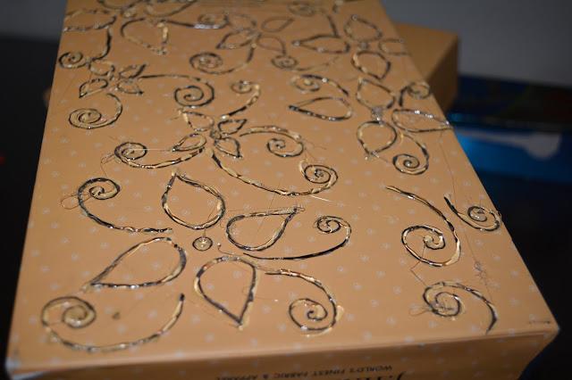 art and craft on cardboard