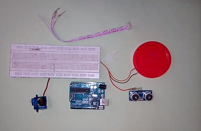 Servo hc-sr04,Arduino breadbod jumper wire