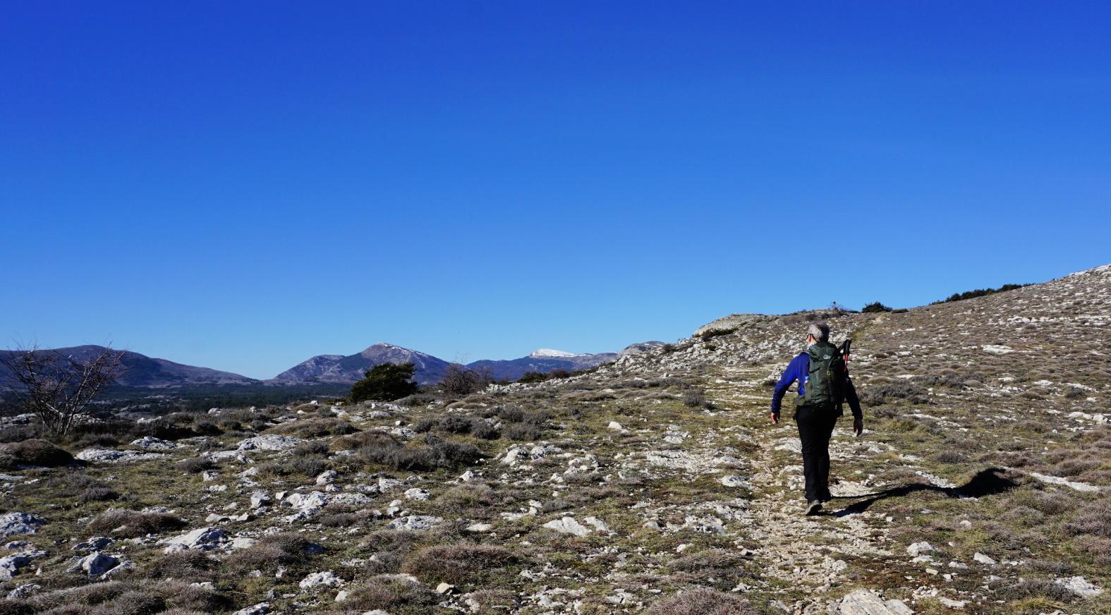 On the ridge to Colle de Rougiès