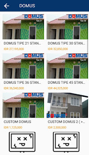 harga tipe rumah domus