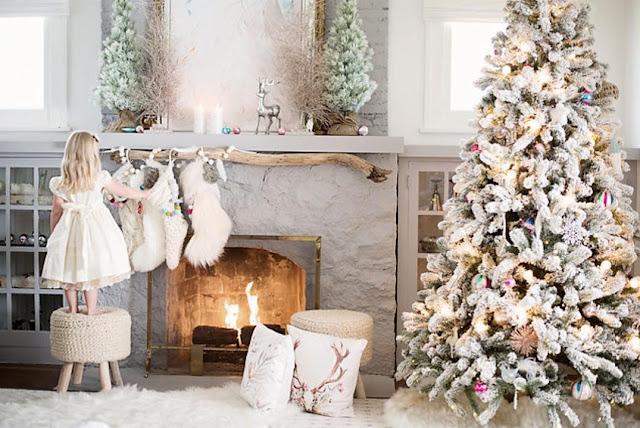 Чудесный рождественский интерьер в доме у Сьюзен