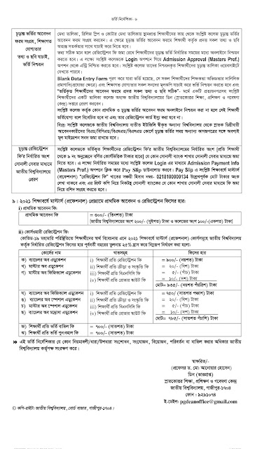nu.edu.bd admissions