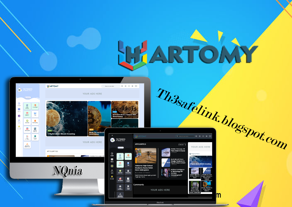 Original Hartomy V1 Premium Blogger Templates