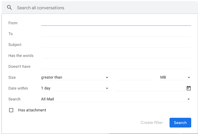 Visual update to the Gmail search box 3