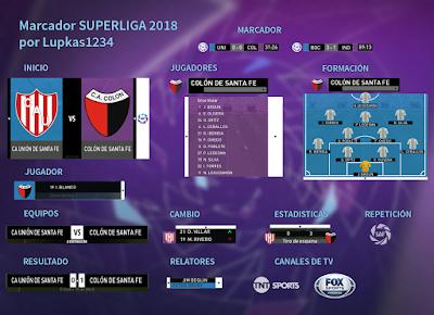PES 2017 Scoreboard Superliga Argentina 2018 by Lupkas1234