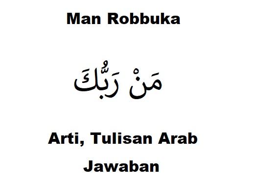 man robbuka arti tulisan arab jawaban