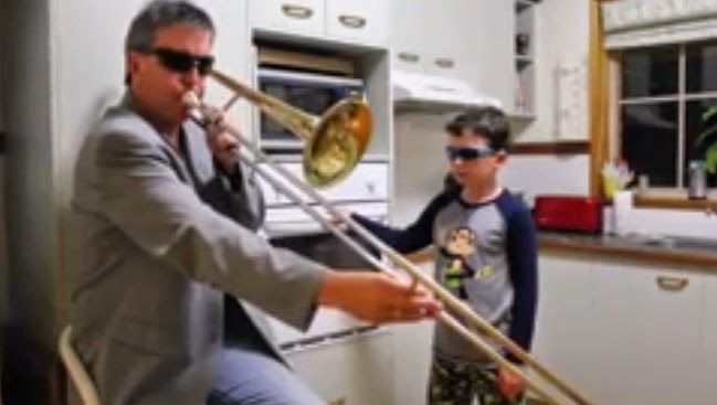 WATCH: Father and Son alone in the kitchen (Video)