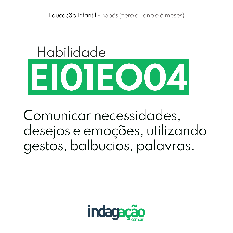 Habilidade EI01EO04 BNCC