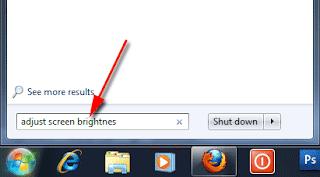 cara mengatur kecerahan laptop