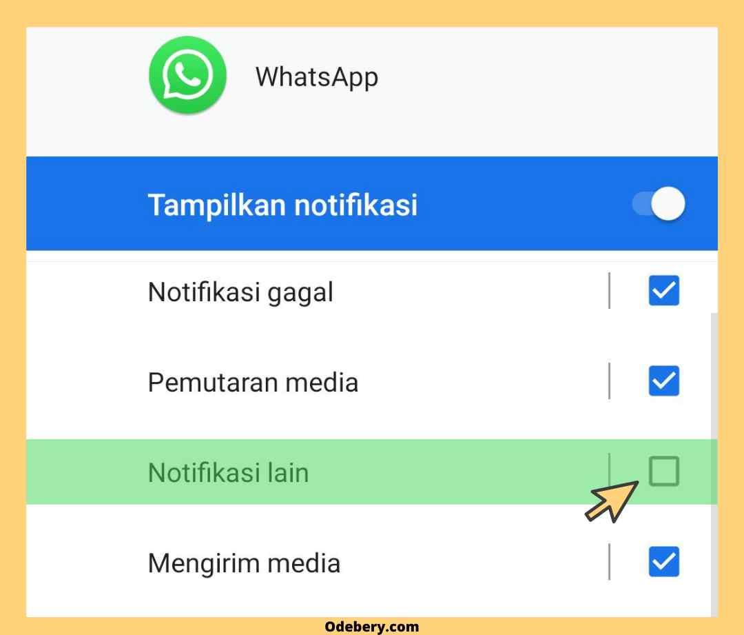 Cara menghilangkan notif whatsapp web aktif