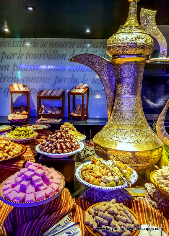 arabic sweets at Pullman Dubai Creek city centre iftar