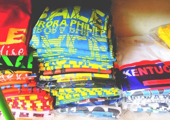 Pasalubong shirts from Baler