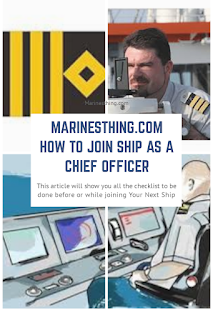 How to join Ship as a Chief Officer