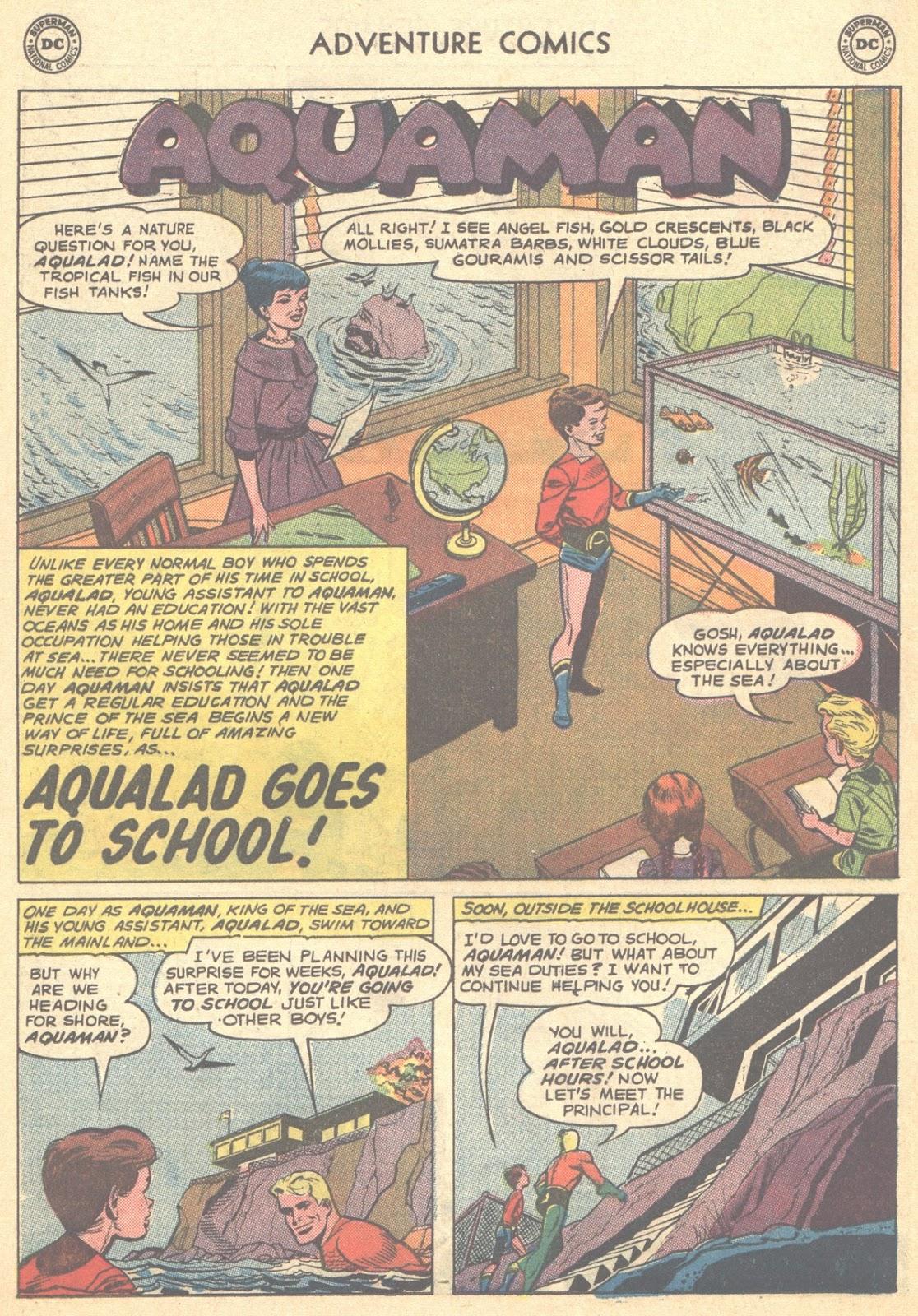 MEMÓRIA EM QUADRINHOS : O Dia em que Aqualad foi à Escola