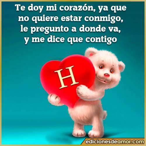 te doy mi corazón H