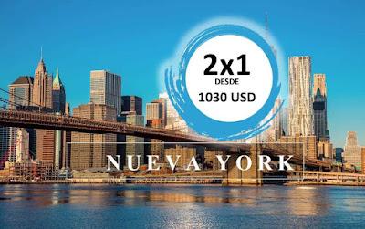 imagen Oferta 2x 1 pareja de vuelos a Nueva York
