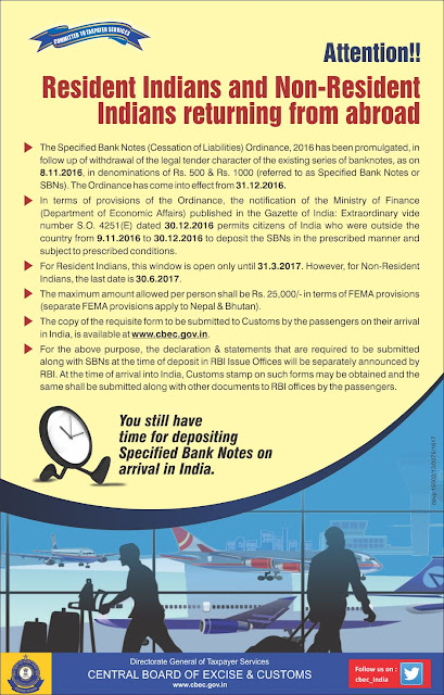 NRI demonetization deadline has been extended until 30th June 2017