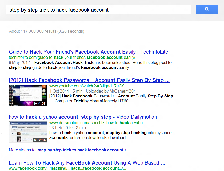 Hacking your friends' Facebook account by knowing just their middle
