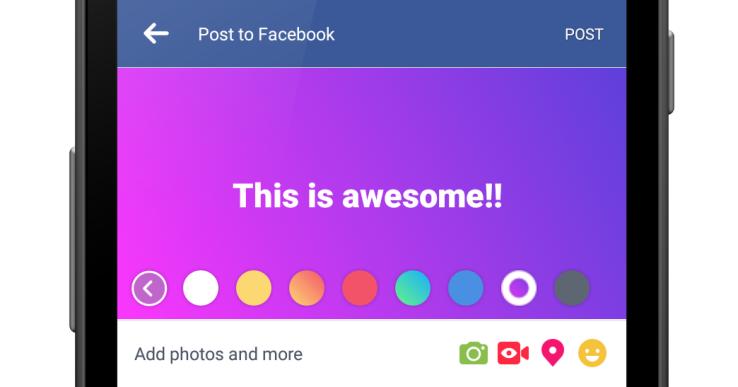 Đăng Status Facebook với những phông nền màu mè