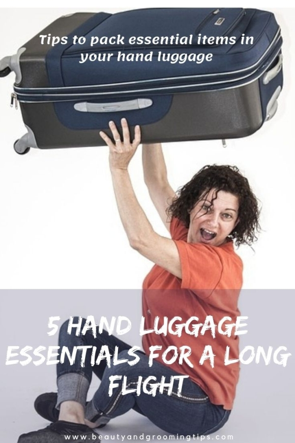 woman with luggage in hand
