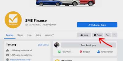 halaman facebook sms finance