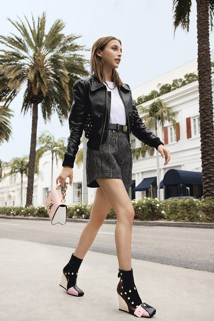 Discover Louis Vuitton's FW21 Shoes campaign featuring Emma Chamberlain lensed by Julia Mayorova