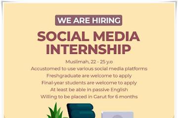 Lowongan Kerja Bandung Social Media Internship