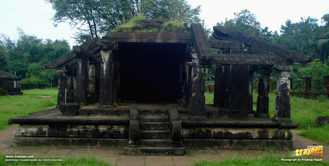 Kattale Basadi in Barkur, near Udupi, an ancient Jain temple, or basadi in Karnataka, Udupi district - One of the ancient ruins and structures in Karnataka, India