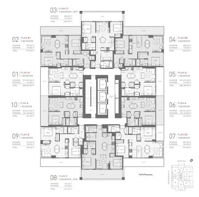 Floor Plan, STATION SQUARE - 6080 McKay Avenue in Metrotown