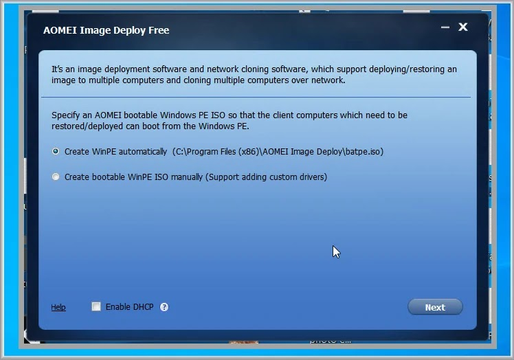 AOMEI Image Deploy free : Πώς να εγκαταστήστε τα windows σε  πολλούς υπολογιστές ταυτόχρονα
