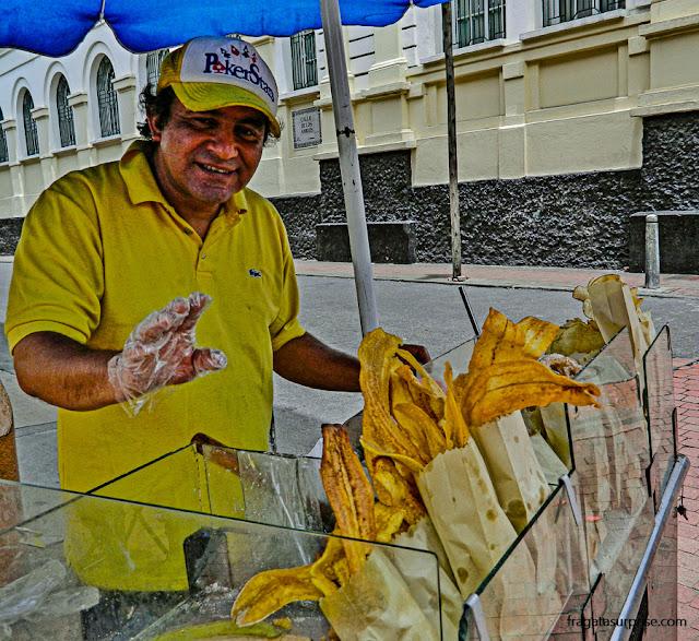 patacones, petiscos típicos da Colômbia