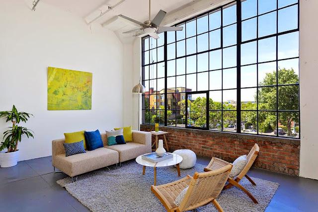 Loft en california visual jill interior decorating for Los mejores disenos de interiores del mundo