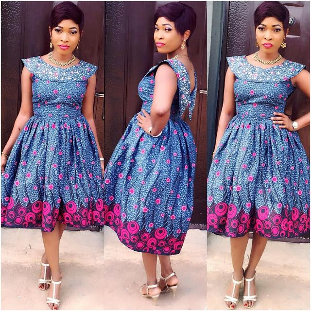 Stoned Ankara Short Gown Styles for Beautiful Ladies to Slay ...