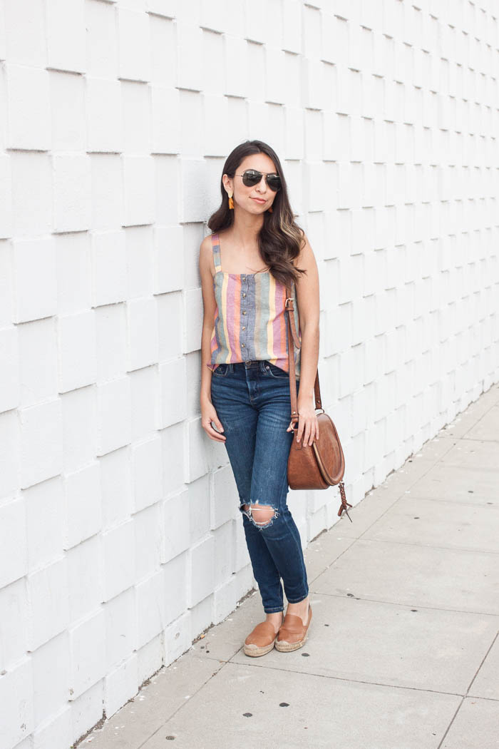 how to style colorful tops